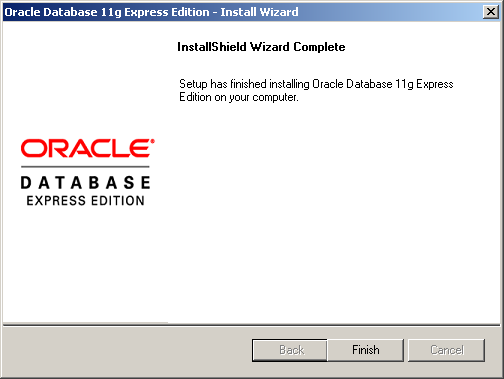 Oracle DB 11g